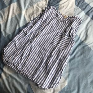 Striped sleeveless top from J Crew